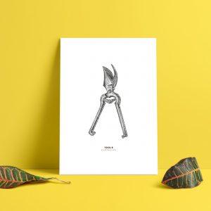 Tools, sekatör, designprints, Marie Tidquist Lundin